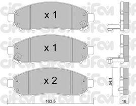 Тормозные колодки CIFAM 822-743-0