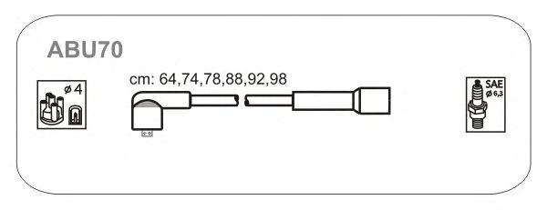 Комплект высоковольтных проводов JANMOR ABU70