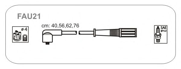 Комплект высоковольтных проводов JANMOR FAU21
