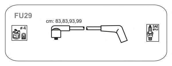 Комплект высоковольтных проводов JANMOR FU29