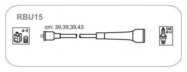 Комплект высоковольтных проводов JANMOR RBU15
