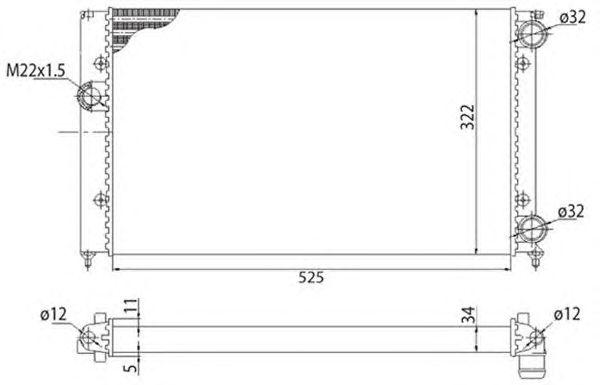 Радиатор, охлаждение двигателя MAGNETI MARELLI 350213213003