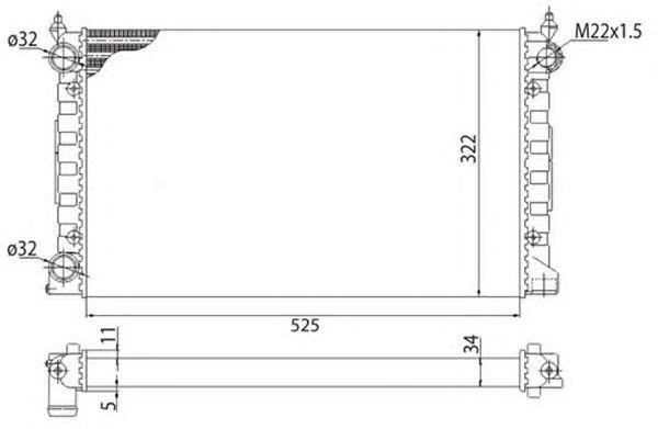 Радиатор, охлаждение двигателя MAGNETI MARELLI 350213647003