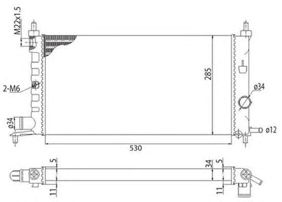 Радиатор, охлаждение двигателя MAGNETI MARELLI 350213775003