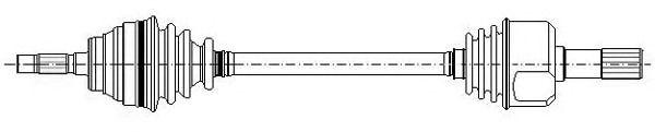 Приводной вал METELLI 17-0392