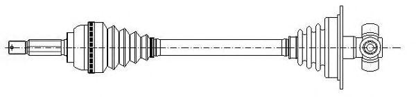 Приводной вал METELLI 17-0599