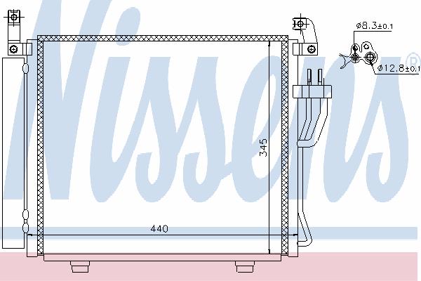 Радиатор кондиционера NISSENS 940206
