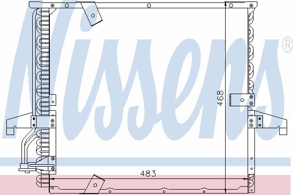Радиатор кондиционера NISSENS 94166