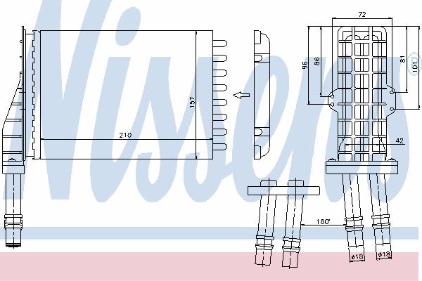Радиатор отопителя NISSENS 73258
