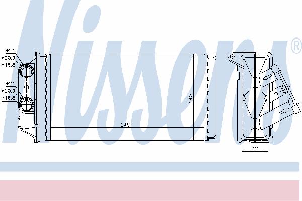 Радиатор отопителя NISSENS 71454