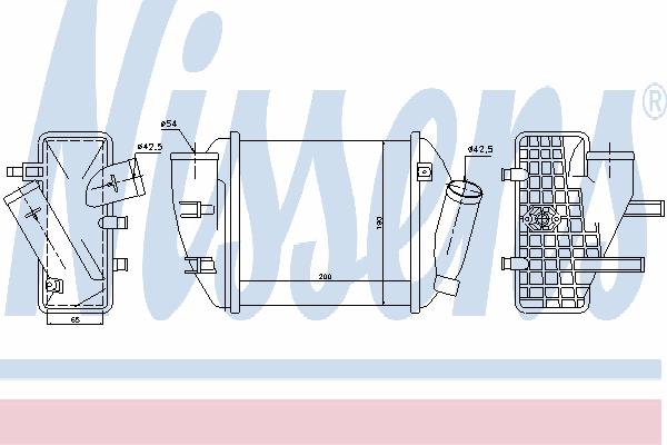 Интеркулер NISSENS 96708