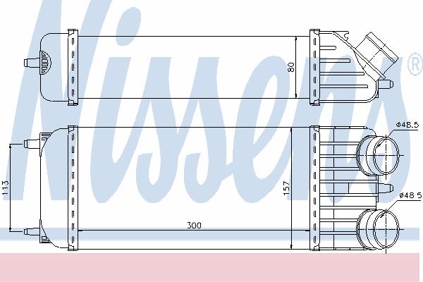 Интеркулер NISSENS 96612