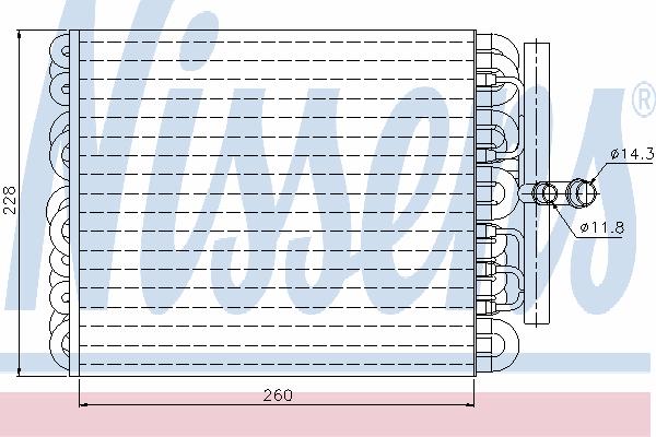 Испаритель кондиционера NISSENS 92091