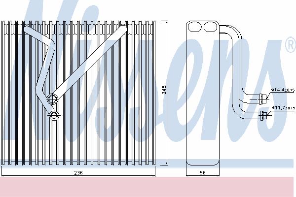Испаритель кондиционера NISSENS 92163