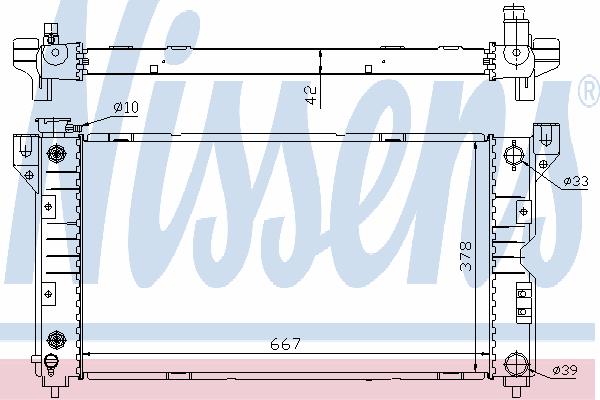 Радиатор, охлаждение двигателя NISSENS 60984