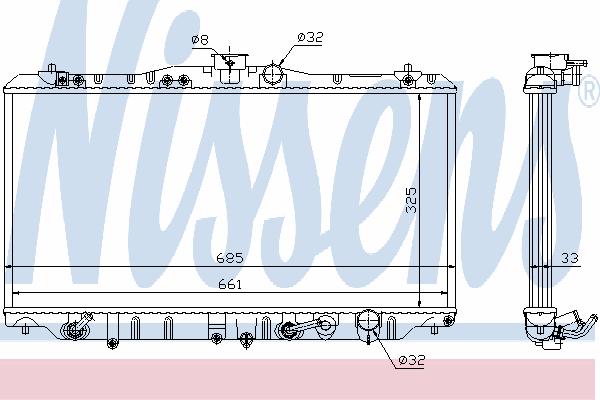 Радиатор, охлаждение двигателя NISSENS 63341