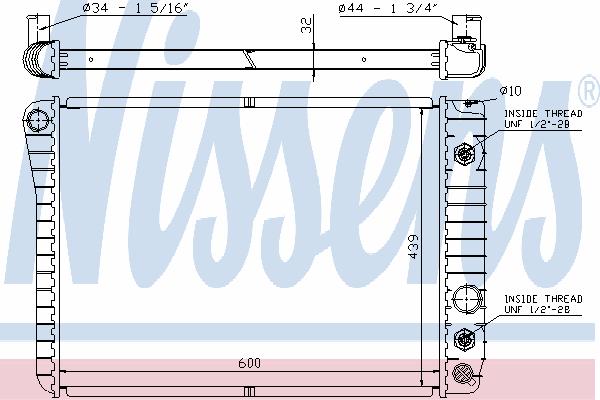 Радиатор, охлаждение двигателя NISSENS 60924