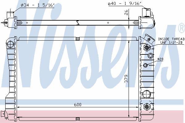 Радиатор, охлаждение двигателя NISSENS 60937A