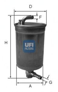Топливный фильтр UFI 24.072.00