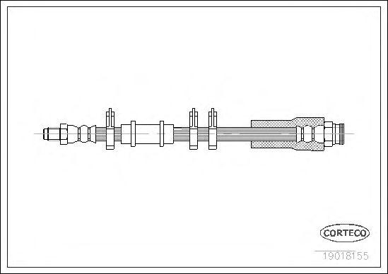 Тормозной шланг CORTECO 19018155