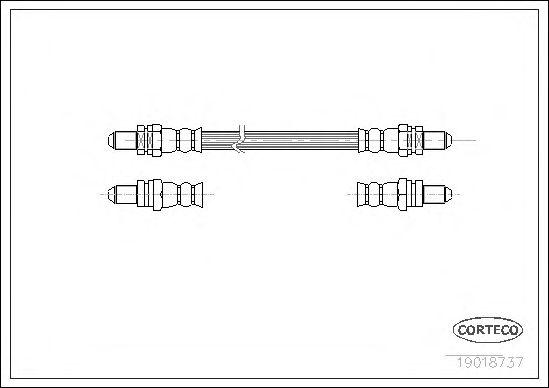 Тормозной шланг CORTECO 19018737