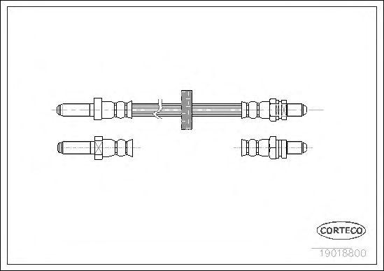 Тормозной шланг CORTECO 19018800