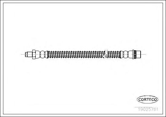 Тормозной шланг CORTECO 19025761