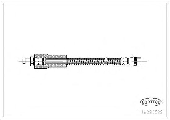 Тормозной шланг CORTECO 19026529