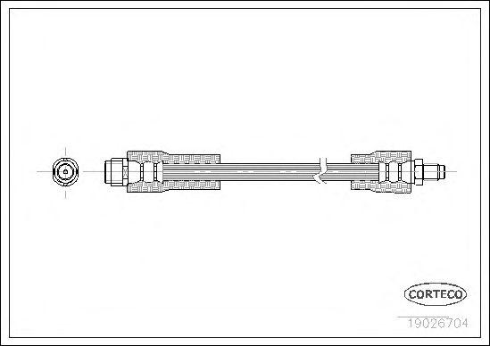 Тормозной шланг CORTECO 19026704