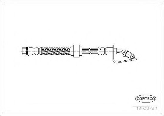 Тормозной шланг CORTECO 19030290