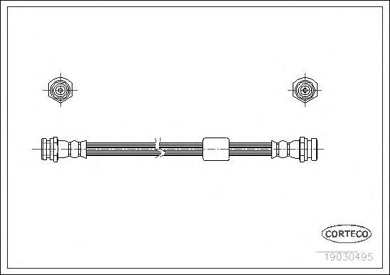 Тормозной шланг CORTECO 19030495