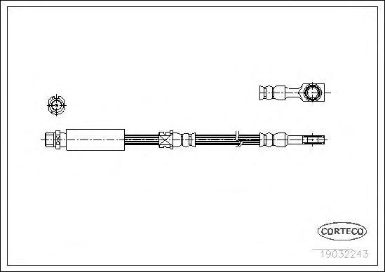 Тормозной шланг CORTECO 19032243