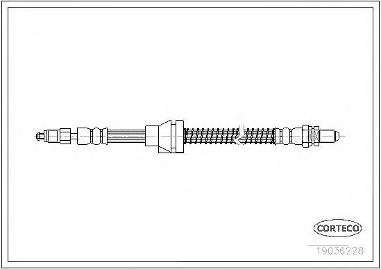Тормозной шланг CORTECO 19036228