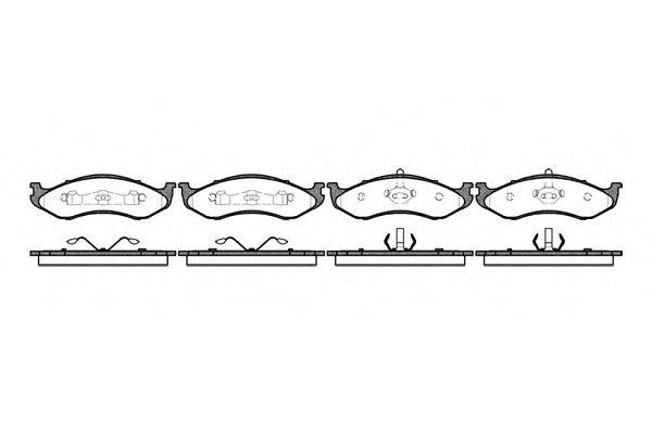 Тормозные колодки REMSA 0467.20