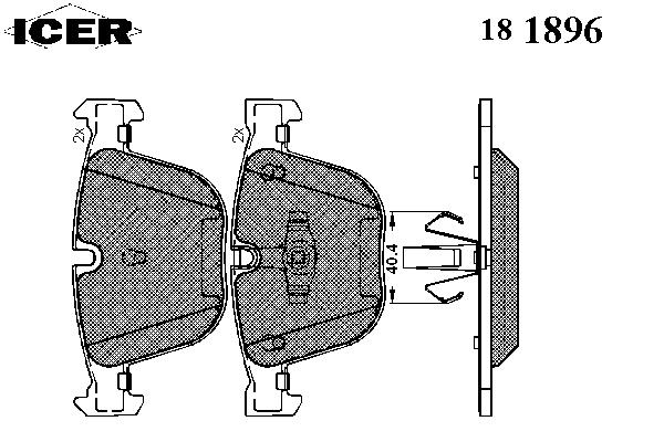 Тормозные колодки ICER 181896