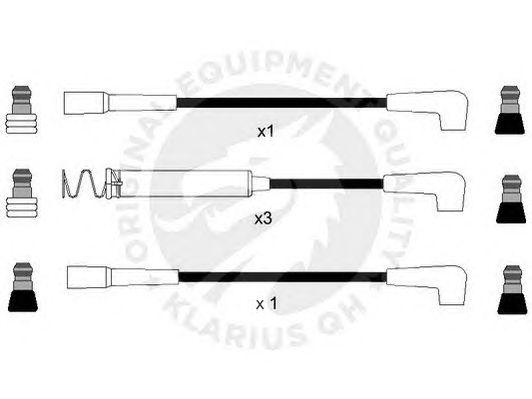 Комплект высоковольтных проводов QH International XC237 CI