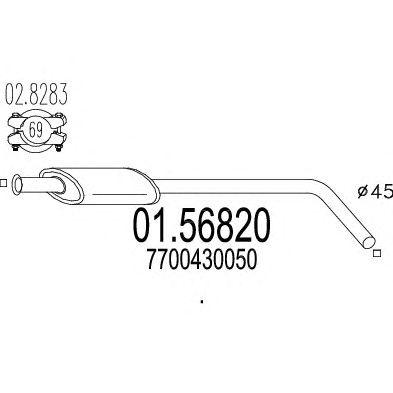 Резонатор MTS 01.56820