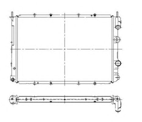 Радиатор, охлаждение двигателя NRF 509503