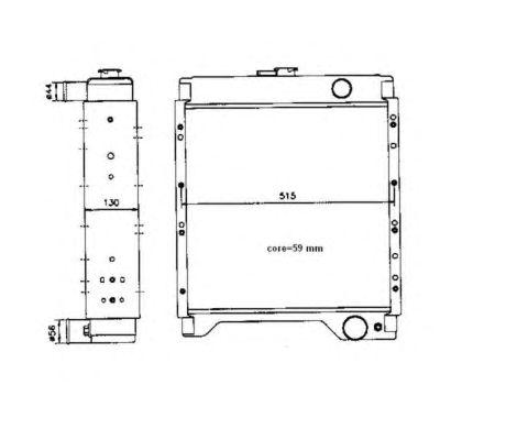 Радиатор, охлаждение двигателя NRF 52104