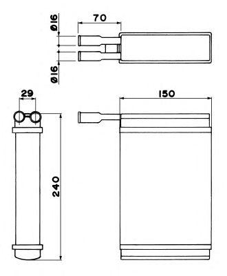 Радиатор отопителя NRF 52221
