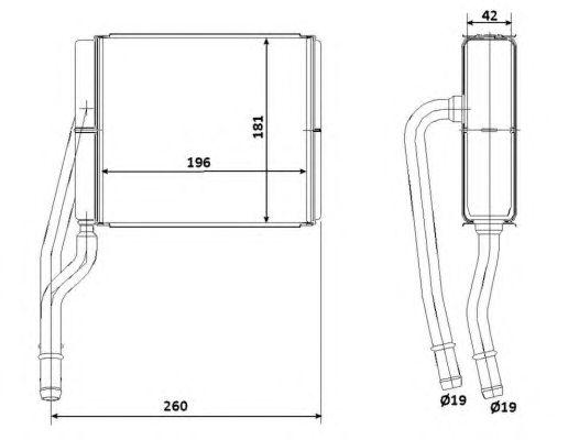Радиатор отопителя NRF 53206
