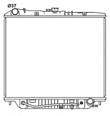 Радиатор, охлаждение двигателя NRF 53516