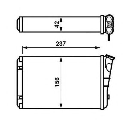 Радиатор отопителя NRF 54238
