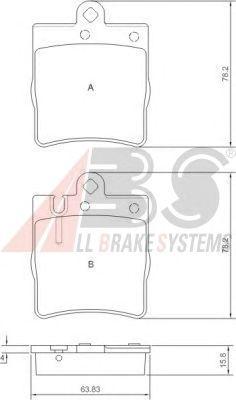 Тормозные колодки A.B.S. 37022