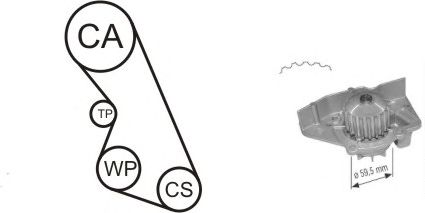 Помпа + комплект ГРМ AIRTEX WPK-135901