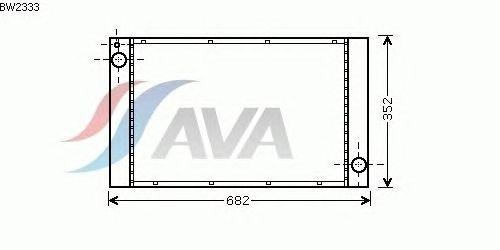 Радиатор, охлаждение двигателя AVA QUALITY COOLING BW2333