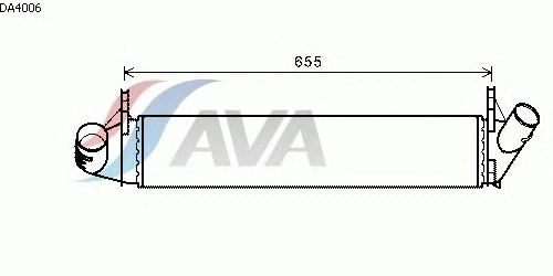 Интеркулер AVA QUALITY COOLING DA4006