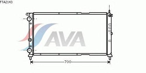 Радиатор, охлаждение двигателя AVA QUALITY COOLING FTA2143