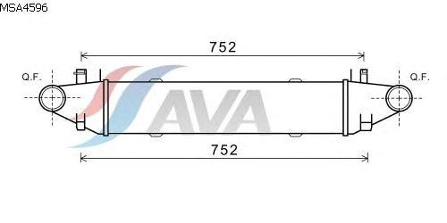 Интеркулер AVA QUALITY COOLING MSA4596