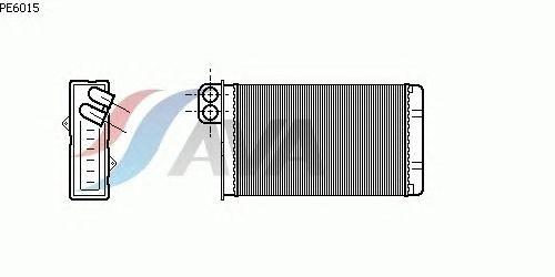 Радиатор отопителя AVA QUALITY COOLING PE6015